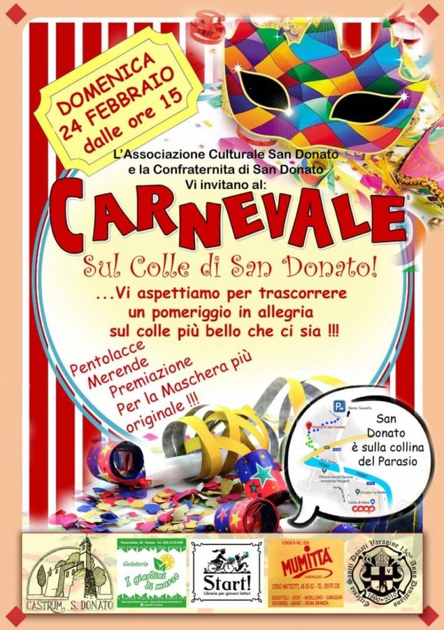 Carnevale in allegria sul colle di San Donato. Tradizionale appuntamento, a Varazze