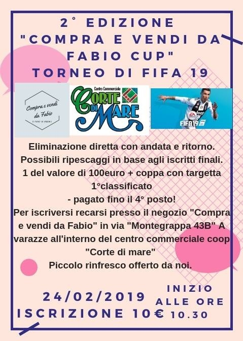 2^ edizione a Varazze del Torneo F I F A 19. - Compra e Vendi da Fabio C U P -