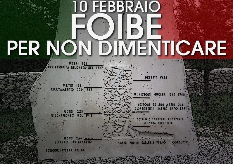 10 Febbraio: -Giorno del Ricordo-. Il ricordo delle vittime e degli esuli