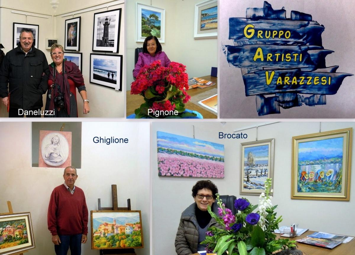 Minimostra collettiva alla -Gallery Malocello- con Pignone, Ghiglione, Brocato e Daneluzzi