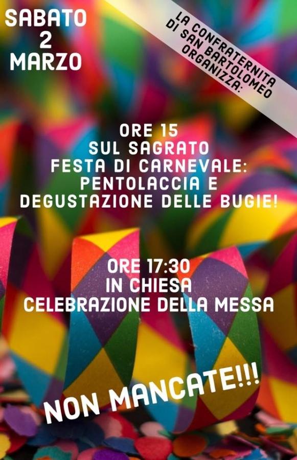 Carnevale in piazza San Bartolomeo nel pomeriggio di sabato 2 marzo
