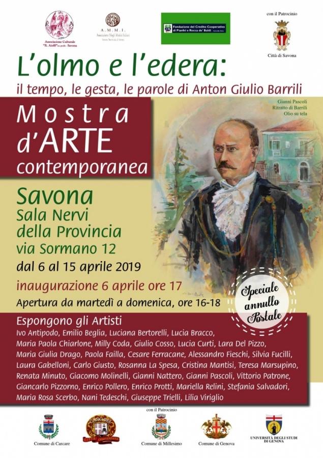 Iniziativa di Associazione Aiolfi, Savona per ricordare Anton Giulio Barrili