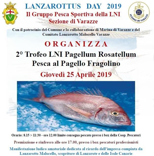 Raduno di pesca al pagello fragolino con il Gruppo Pesca Sportiva della L.N.I.di Varazze