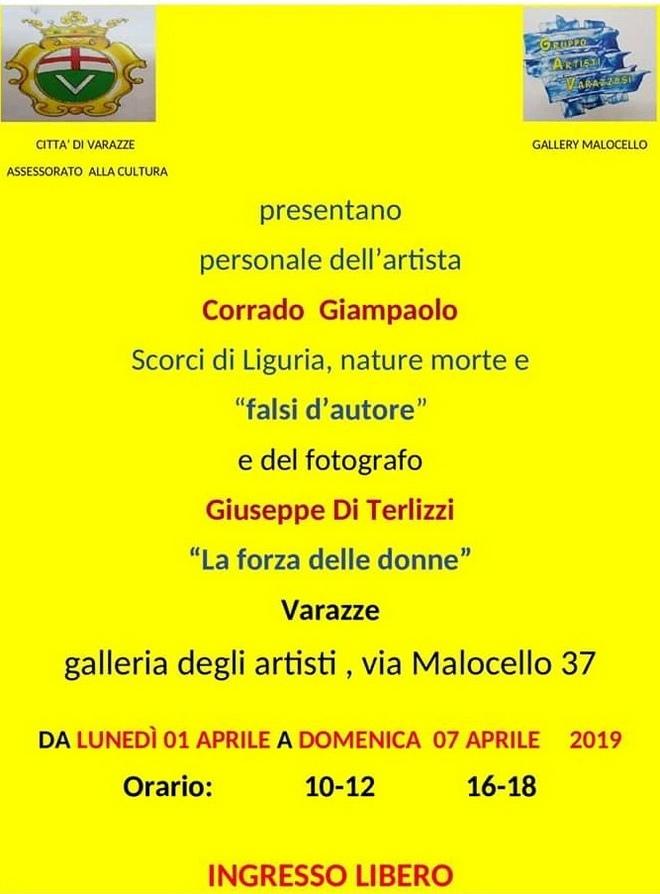 Corrado Giampaolo e Giuseppe Di Terlizzi a Varazze nella - Gallery Malocello -