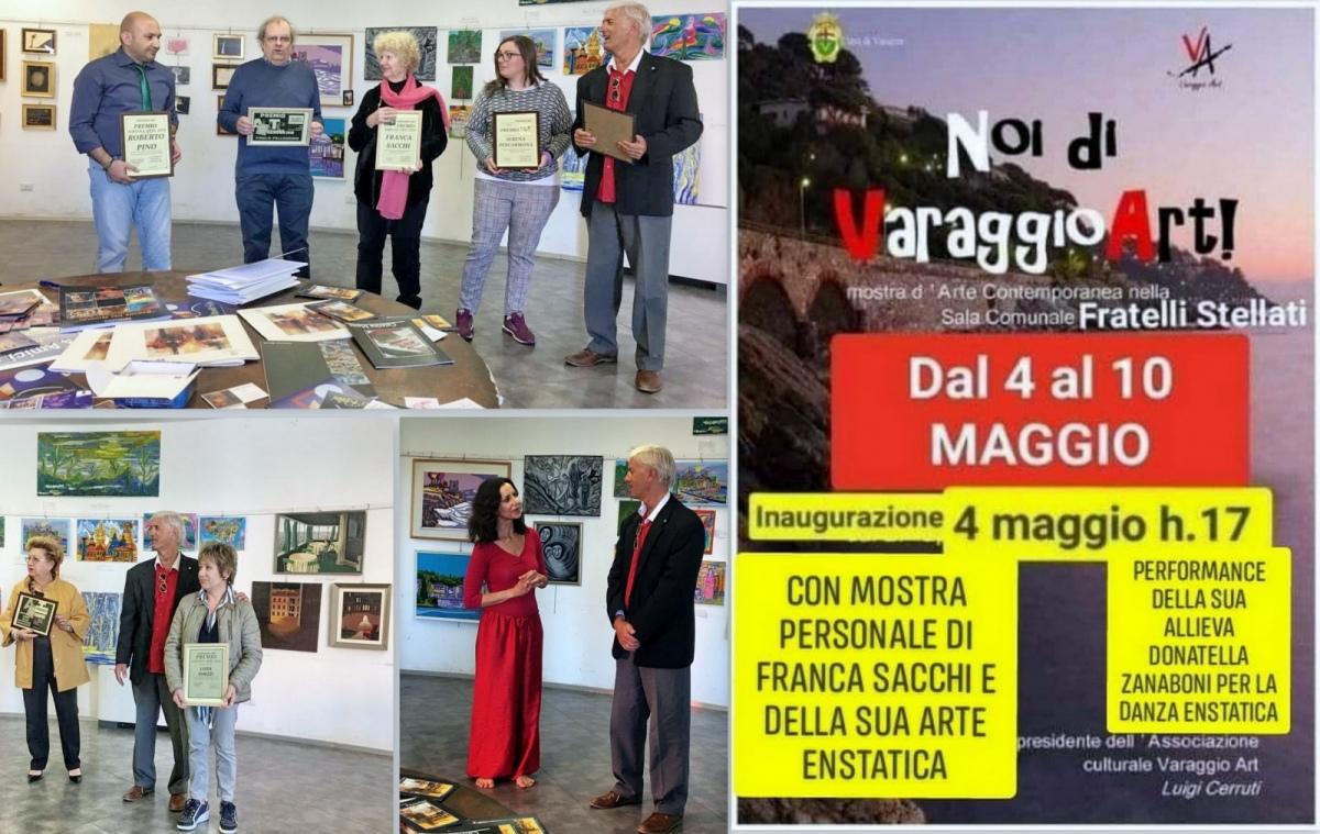 Ivan Cuvato visita la Mostra d'Arte. Contemporanea - Noi di Varaggio Art -