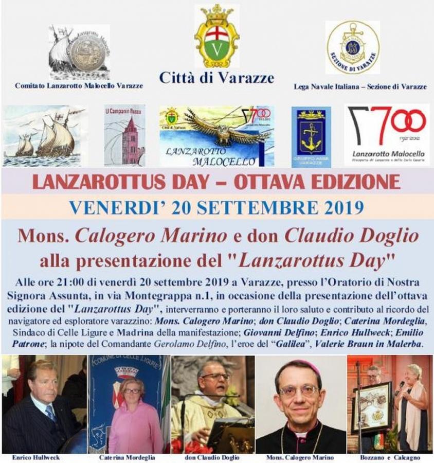 Mons. Calogero Marino e don Claudio Doglio alla presentazione del -Lanzarottus Day-