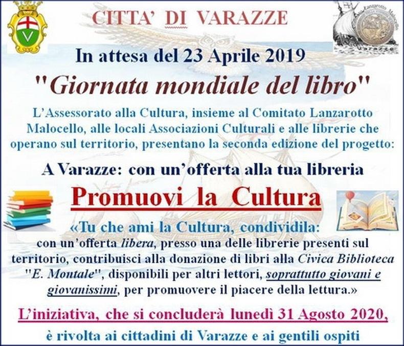 A Varazze con un'offerta alla tua libreria promuovi la cultura...
