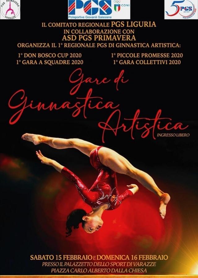 Primo Regionale P G S di Ginnastica Artistica. Sabato 15 e domenica 16 febbraio 2020